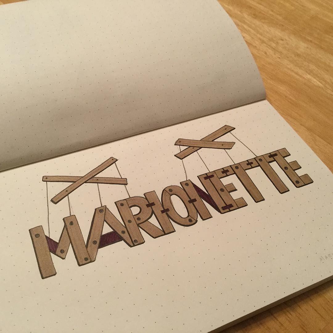 Marionette #marionette #typography #handlettering #lettering #sketch #sketchbook #bicmarkit