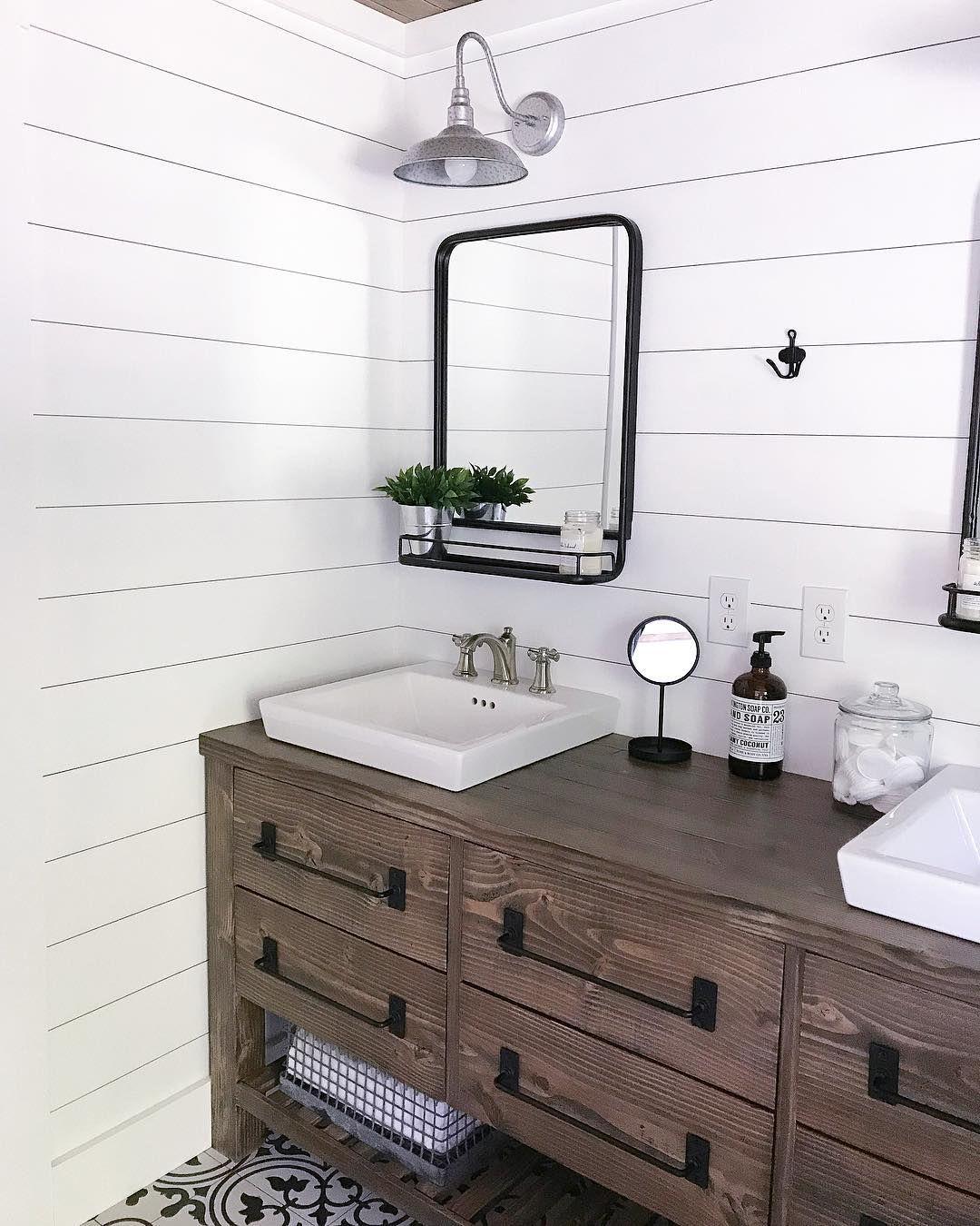 Rustic Farmhouse Double Bath Vanity With Angelarosediyhome Diy Bathroom Vanity Farmhouse Vanity Farm Style Bathrooms