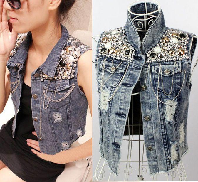 Rivets gilet veste Gothique Shirt Jeans Rock S M L XL Top