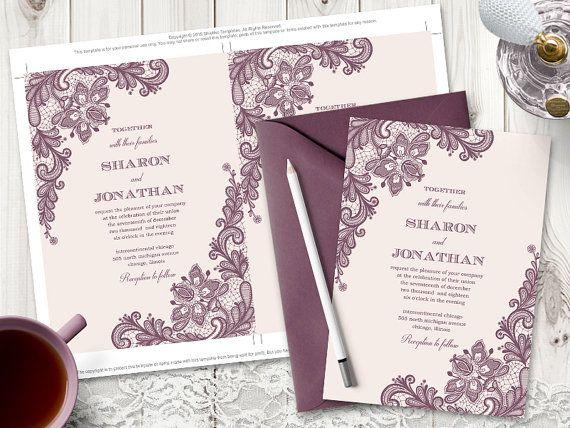 Elegant Wedding Invitation Vintage