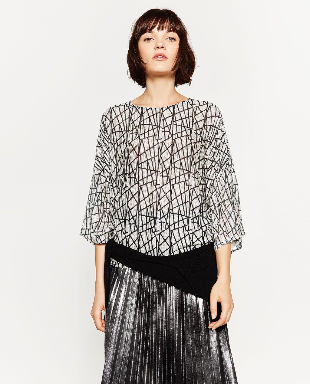 6e1cd8fa90 ZARA - SALE - PRINTED T-SHIRT New Look Fashion