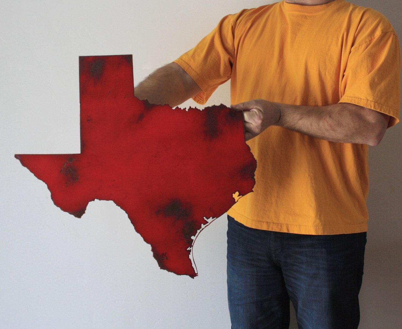 Color printing austin - Color Printing El Paso Tx Texas Map Metal Wall Art 23 Wide Tx Wall Decor