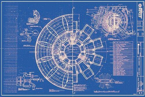 Iron Man Arc Reactor Blueprint