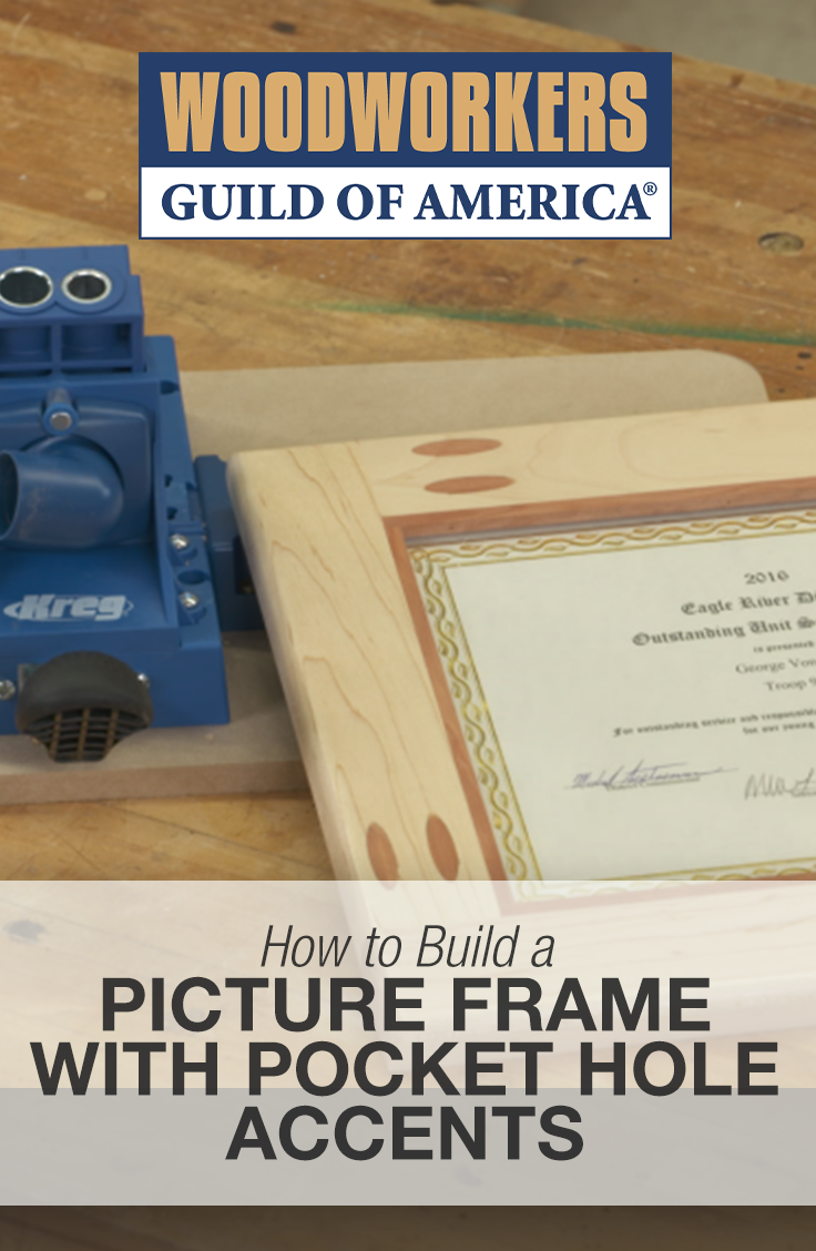 Making a Picture Frame with Pocket Hole Accents