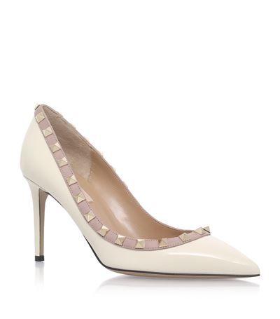 Valentino Rockstud Patent Court Shoes 85 available at harrodscom Shop  womens designer shoes