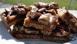I'm a Little Nutty Pecan Pie Bars
