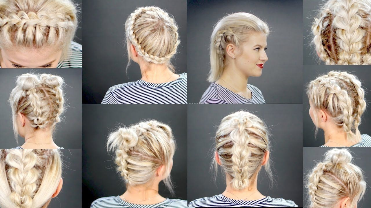 10 faux braided short hairstyles tutorial | hair styles