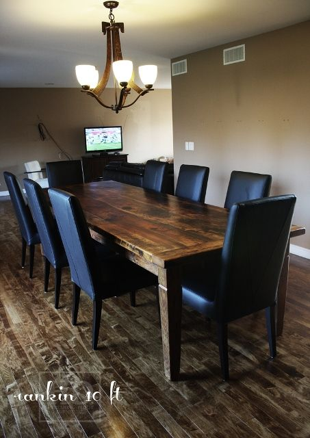 Our Reclaimed Wood Table With Parsons Chairs By HD Threshing Floor  Furniture Www.hdthreshing.