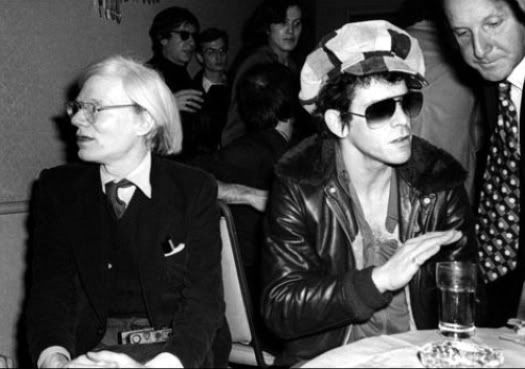 Lou Reed And Andy Warhol