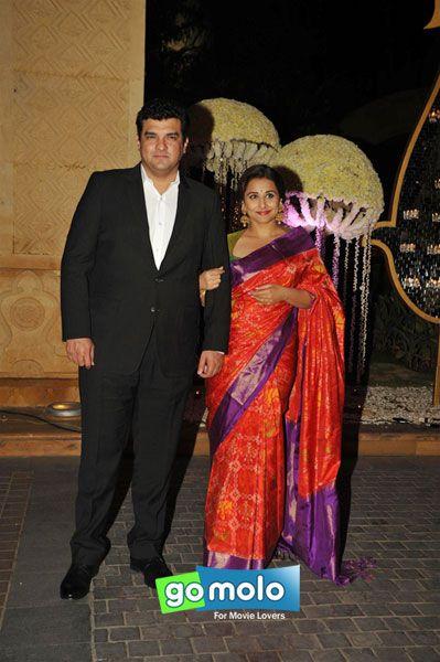 Siddharth Roy Kapur Vidya Balan At Riddhi Malhotras Wedding Reception Hotel JW Marriott In