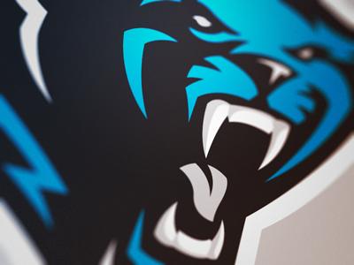 805efac56dfe2 Panther Logo | Sports Design | Panther logo, Sports logo, Sports ...
