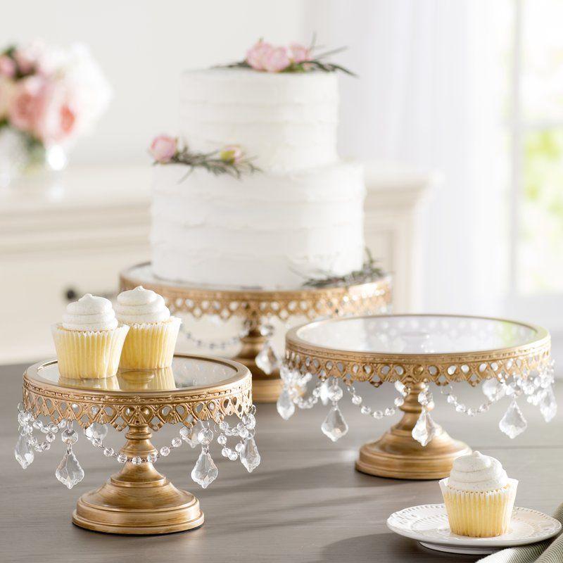 Davida 3 Piece Cake Stand Set Strawberry Wedding Cakes Wedding Cake Stands Bridal Shower Cakes