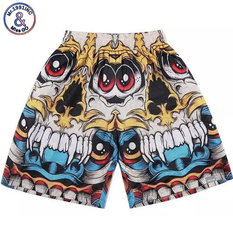 New  summer men short pants Hip-hop 3D Design print high quality shorts wholesale size M-XXL