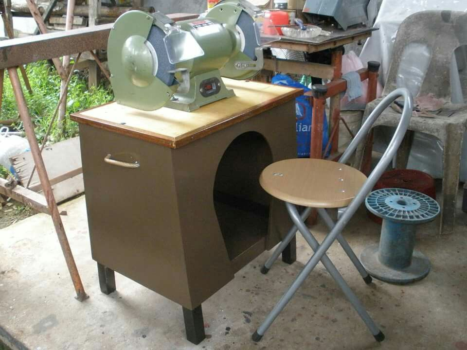 bench grinder table. invertible bench grinder table top