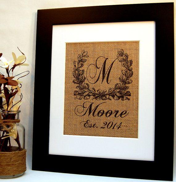 Burlap Monogram Burlap Wedding Personalized by BusyBeeBurlap, $19.00