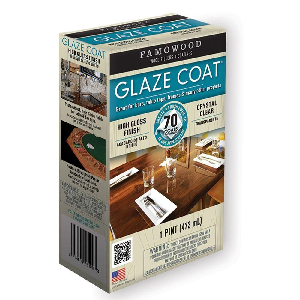 Famowood 1 Pt Glaze Coat Clear Interior Epoxy Kit 6 Pack 5050060 The Home Depot Famowood