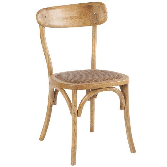 chaise bistrot en ch ne cir appartement pinterest. Black Bedroom Furniture Sets. Home Design Ideas