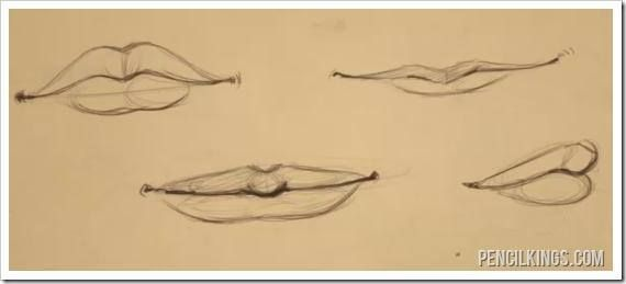 how to draw lips step by step easy