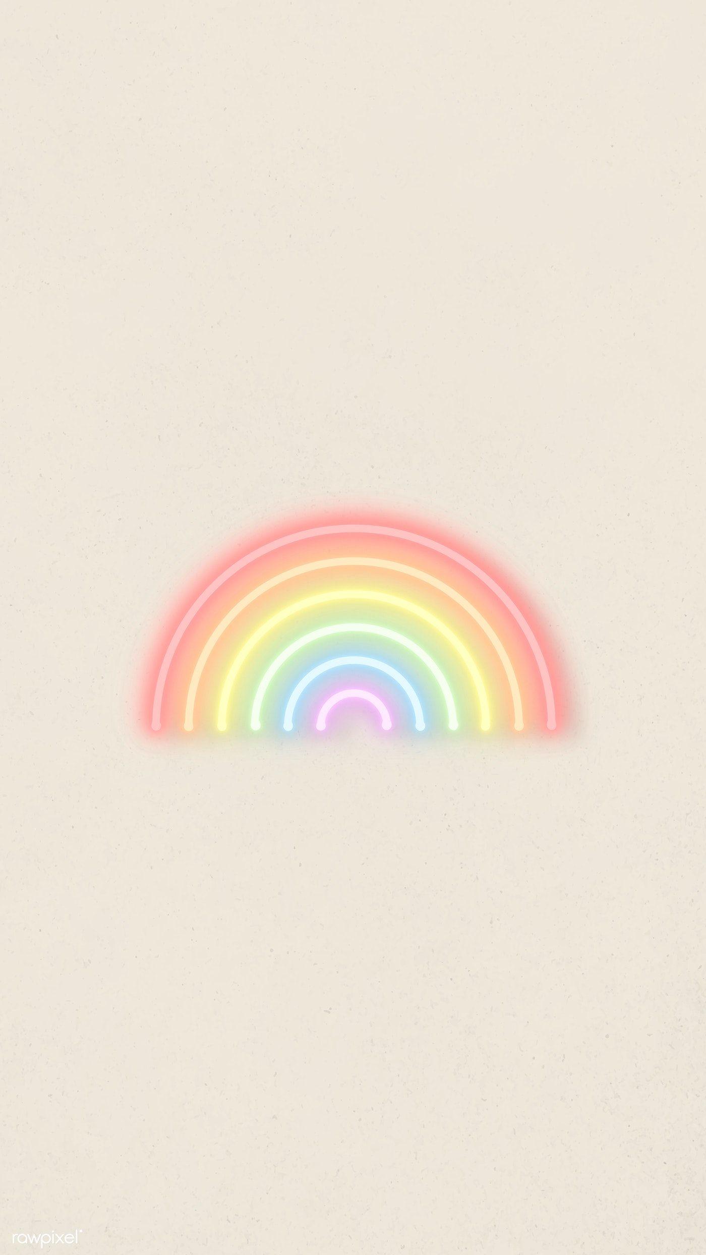 Download Premium Vector Of Rainbow Colors Neon Vector Mobile Phone Rainbow Wallpaper Iphone Rainbow Wallpaper Backgrounds Rainbow Aesthetic