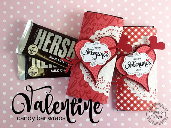Kit Hy Valentine S Day Candy Bar Wraps Co Worker Treats Employee Teacher Reciation Hershey Red Party Favor Wedding Favors