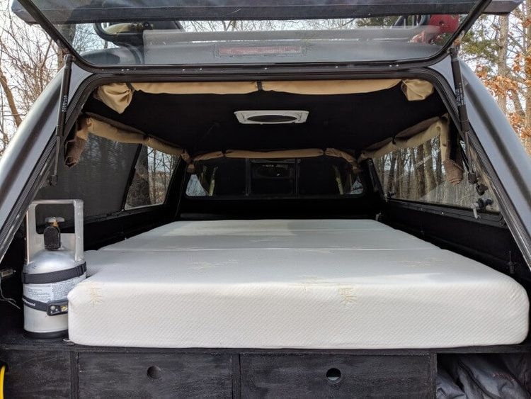 The Best Memory Foam Truck Bed Mattress For Truck Van Or Suv Camping Take The Truck Truck Bed Mattress Diy Truck Bedding Truck Bed
