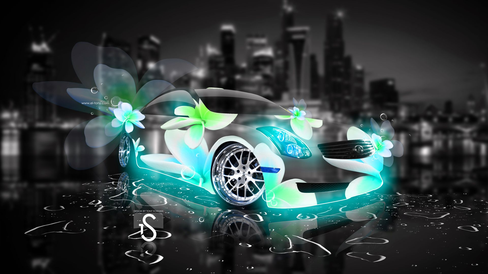 Infiniti Abstract Flower Car Art Abstract Flowers Abstract Car Wallpapers