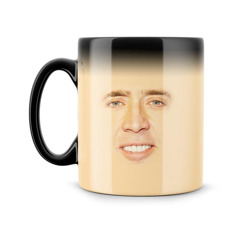 Magic Mug Nicolas Cage Creepy Face Meme Funny Geek Nerd Color Etsy Mugs Creepy Faces Creepy Face Meme