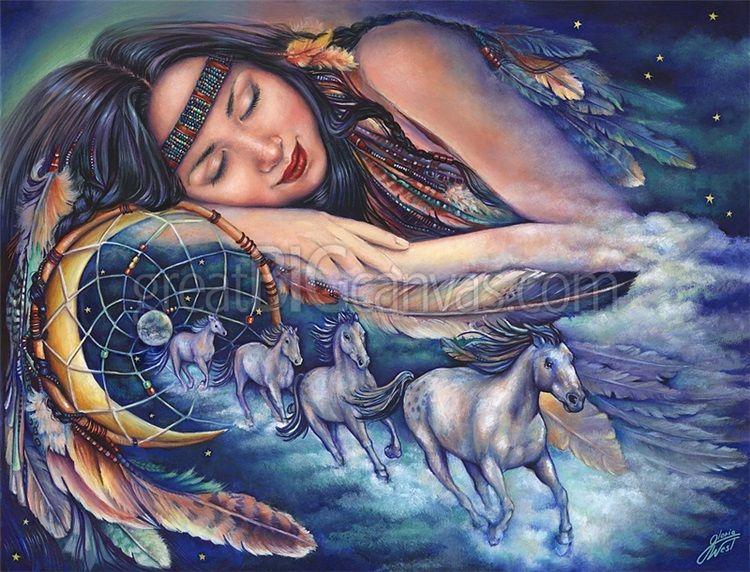Path Of The Dream Catcher Amerikanische kunst, Kunst