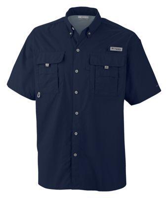 Columbia Bahama II Short Sleeve Shirt with Omni-Shade for Men - Collegiate  Navy -