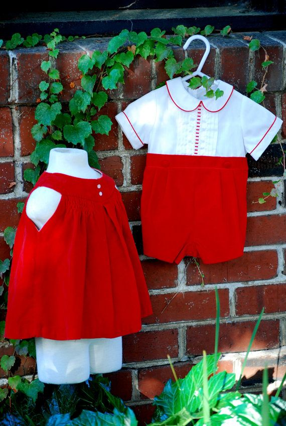 0911d22b3 Christmas baby boy outfit Baby boy Vintage by ginghamgiraffe, $20.00