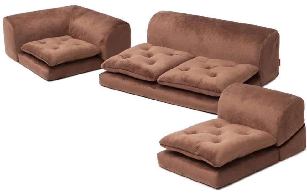 Brown Floor Sofa Low Couch Couch Bed Ergonomic Chair