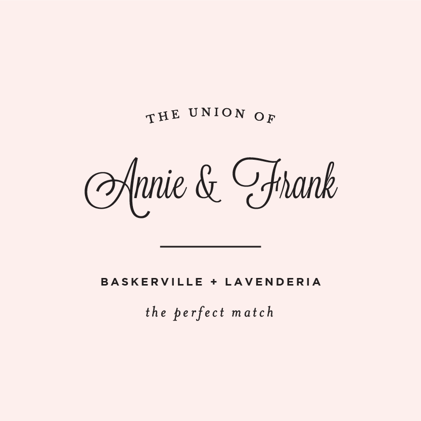 How Can You Not Love Baskerville U0026 Lavenderia? Romantic And Classic, These  Two Perfect. Wedding FontsFree ...