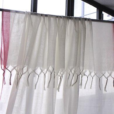 rideau en voile de lin caravane curtains pinterest. Black Bedroom Furniture Sets. Home Design Ideas