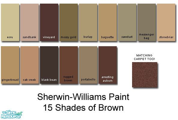 Rebelxgirl S Sherwin Williams Brown Collection Dark Brown Paint Color Brown Paint Colors Paint Colors For Home