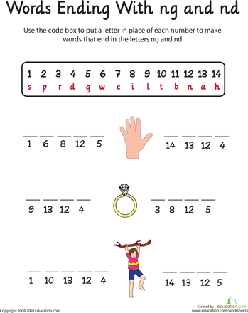 5 letter words ending in aw word endings ng and nd worksheets reading 16326