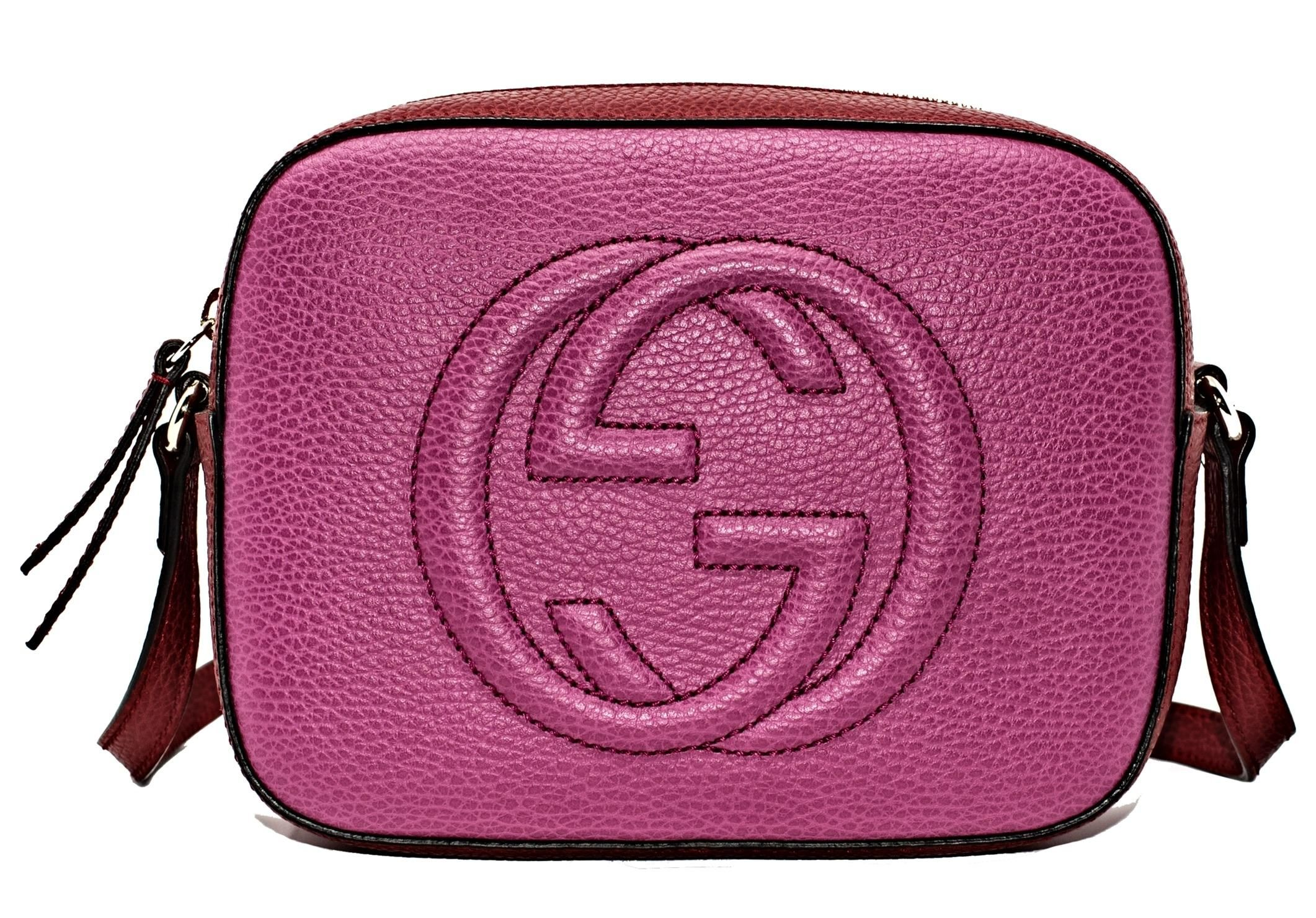 8d0b255dbf5 Gucci Soho New Violet and Magenta Leather Cross Body Bag