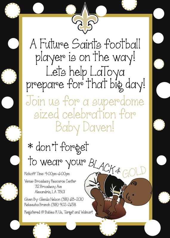 New Orleans Saints Baby Boy Baby Shower By Brockgomiladesigns