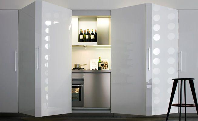 Tivalì, la cucina monoblocco che si può nascondere dietro le ante a ...