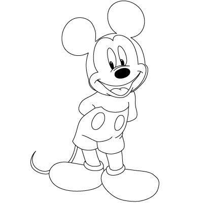 how to draw mickey minnie and other disney characters step by - Fun Easy Drawings For Kids