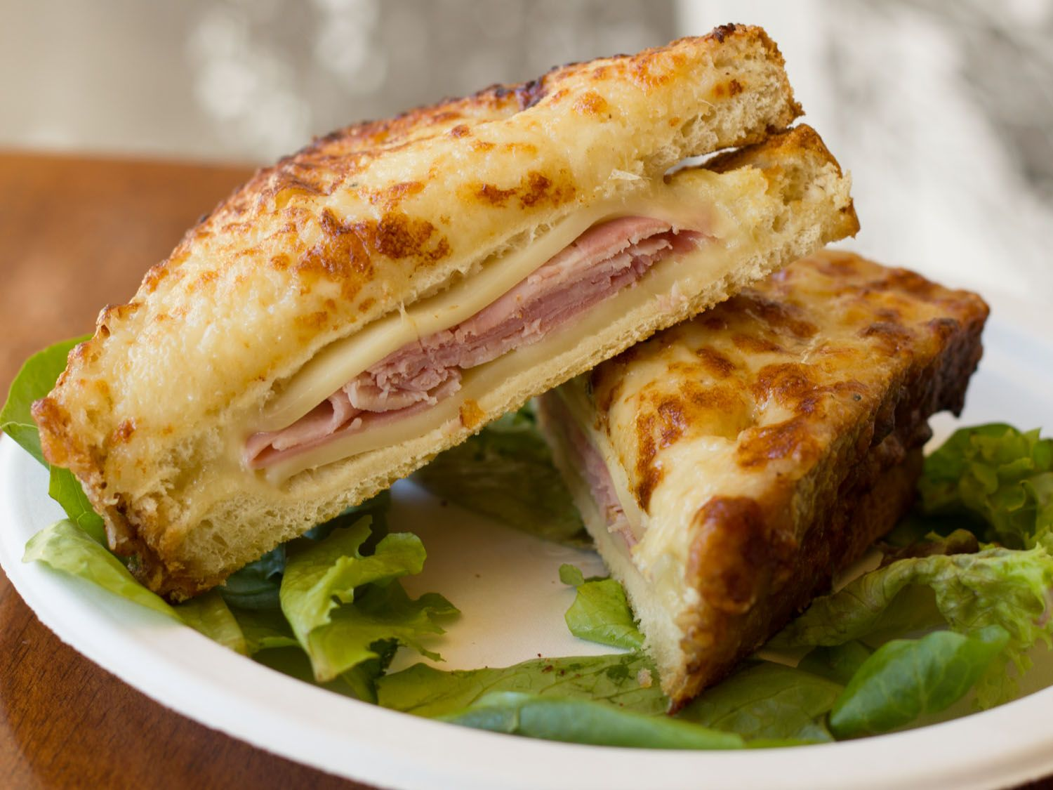 A sandwich a day croque monsieur at papillote in savannah ga croque monsieur swiss cheese - Croque monsieur au four creme fraiche ...