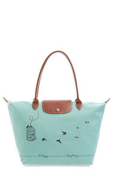Longchamp Le Pliage Cage aux Oiseaux bag. Perfect size, colour and message  :)