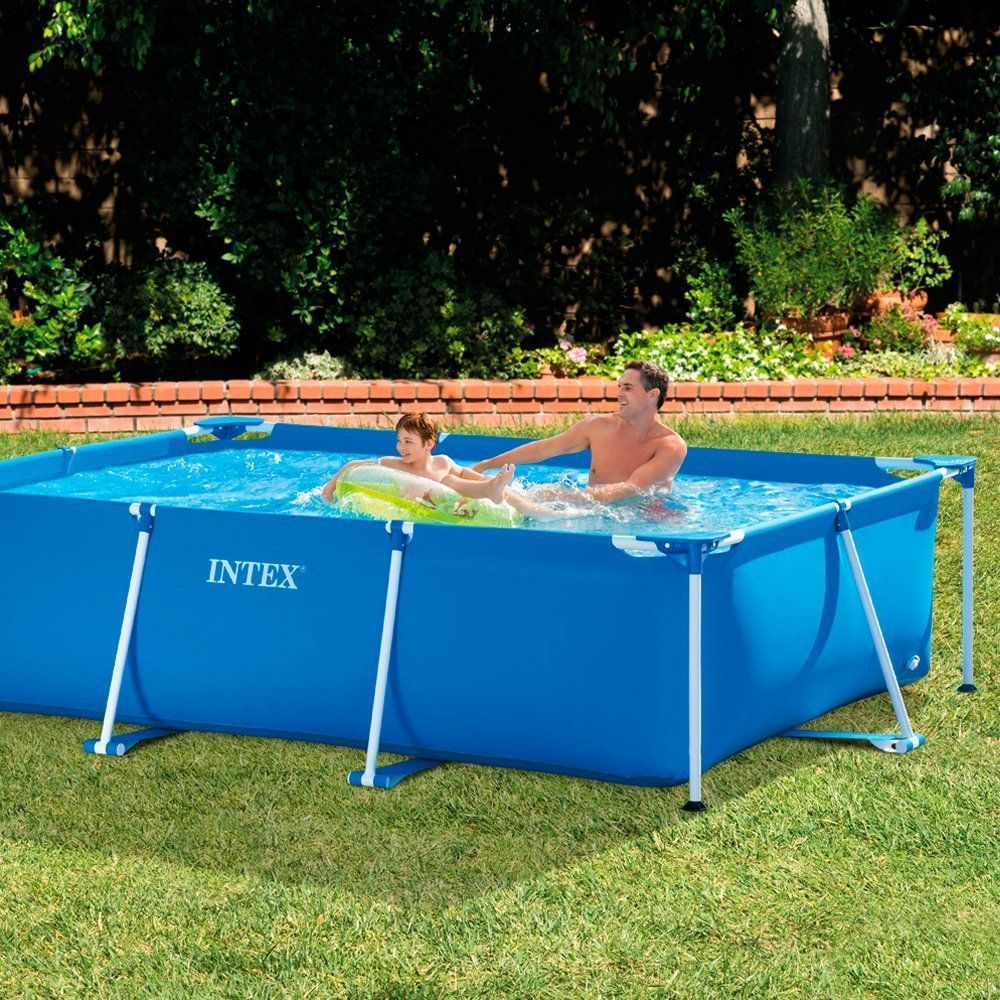 Intex family schwimmbecken blau 300 x 200 x 75 cm for Garten pool intex