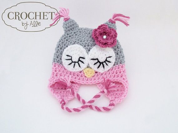 Crochet Owl Hat Boy and girl colors would nice! | DIY | Pinterest ...