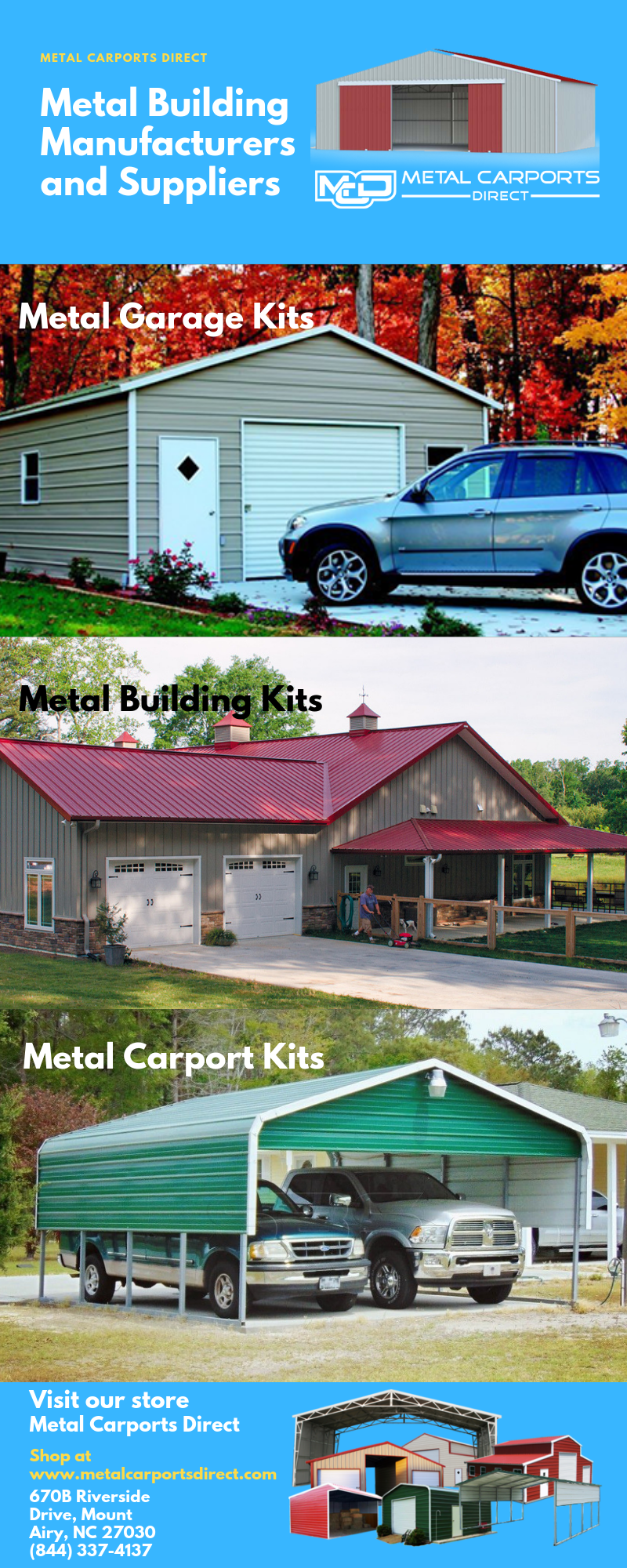 Shop for fully enclosed metal building kits, metal