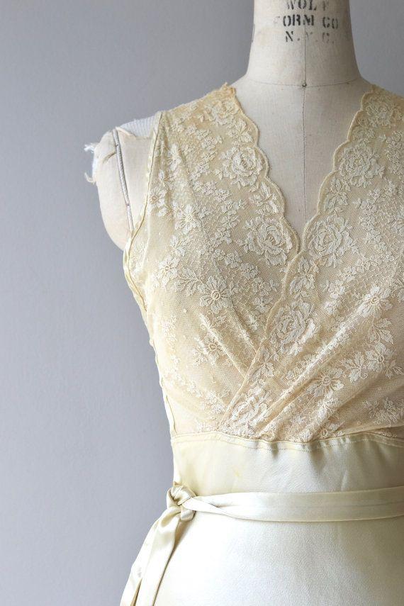 Mimette Seidenkleid 1930er Jahre Vintage Brautkleid von DearGolden ...