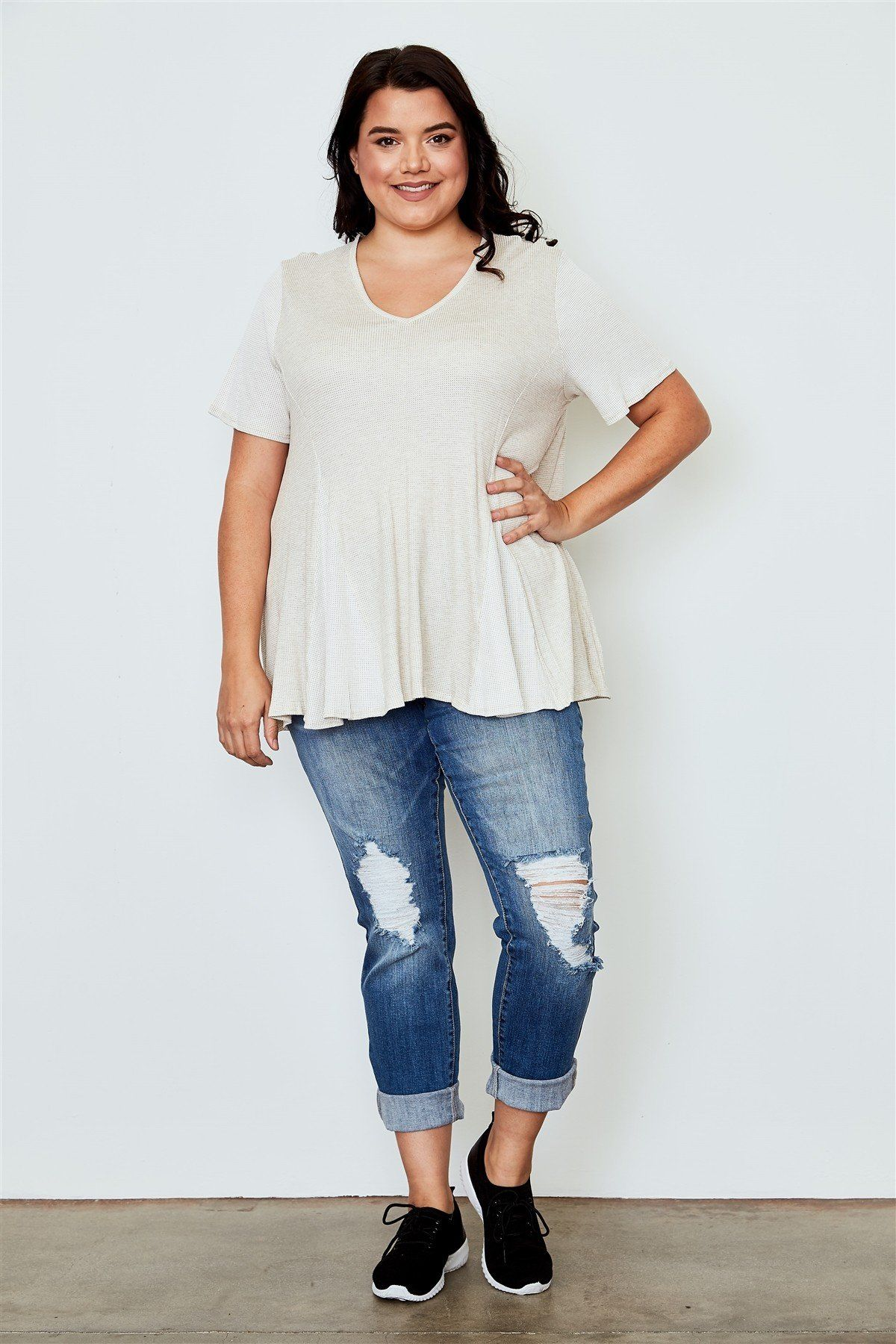 1d6195affe9dea Plus size v neck loose top  Me  Swag  Fun  Summer  Outfit  Friends  Cute   cool  YoungLooking  AllMine