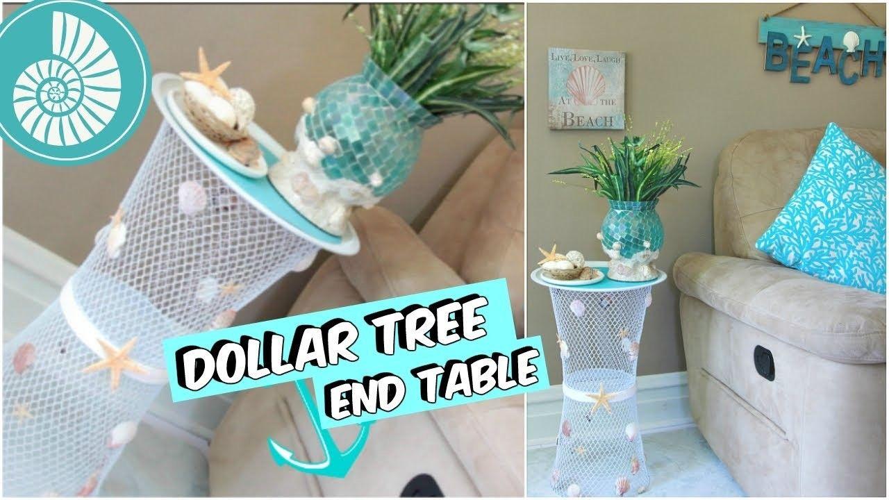 Dollar tree end table beach decor tutorial diy dollar