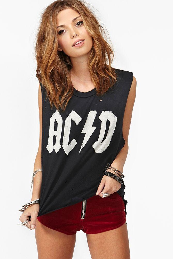 d395aa12 Acid Muscle Tee | C L O T H I N G | Roupas femininas, Roupas, Look