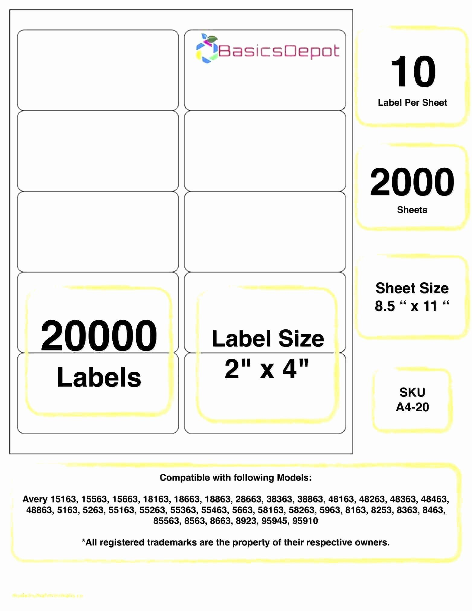 Avery Label 5163 Template Free Luxury Labels Template Avery In 2020 Label Templates Avery Label Templates Avery Shipping Labels
