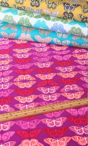 Cocoon Cashmere Butterfly Print in Ruby Wine by Valori Wells